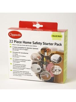 Clippasafe 22-osaline kodu turvalisuse starter pakk