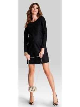 VALENTINE kleit-must