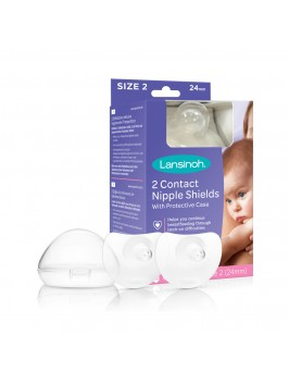 Lansinoh® Contact rinnanibukaitsmed (20mm / 24mm) SUURUS 2